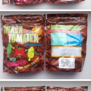 Snacks: semi-dried tomatoes  various flavours