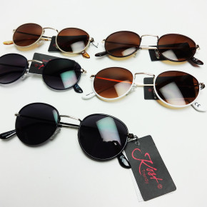 Various colors round frame sunglasses