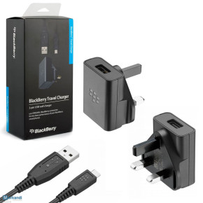 BLACKBERRY TRAVEL CHARGER WITH MICRO USB CABLE - RETAIL PACK