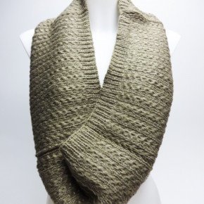 Knitted turtleneck scarf