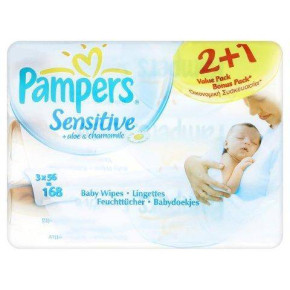 Pampers Baby Wipes Sensitive overstock