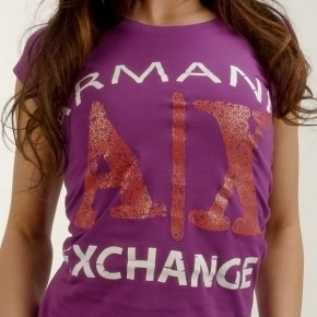 ARMANI EXCHANGE T-SHIRT FEMALE VIOLET