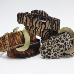 Belts with animal print