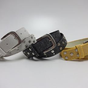 Canvas belts with studs/rhinestones