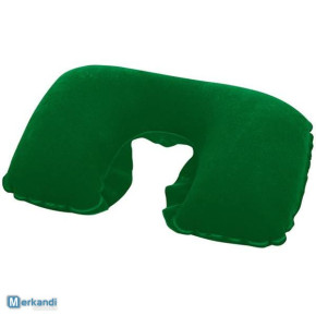 """bestway inflatable flocked pillow green  46cm x 28cm (18""""x11"""")"""