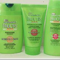 Garnier Fructis shampoos and hair conditioners