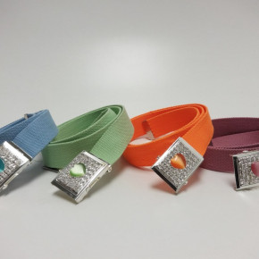 Canvas belts with heart buckle