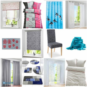 Home Textiles Mix - curtains, carpets, bedding, mat, shower curtain et