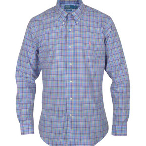 RALPH LAUREN SHIRT BLUE MEN MULTICOLOR