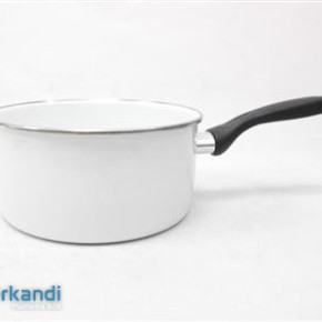 Enamel Pan handle Inox flange 20 cm 3 L
