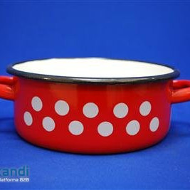 Enamel Pan red decor 25 cm 4 Lit