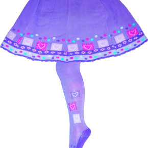 """2 in 1"" cotton tights and skirt"
