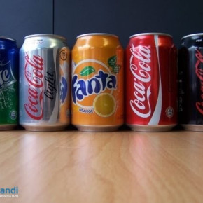 Coca Cola, Fanta,CCola light 33cl cans deutsch, mit und ohne Pfand-AT