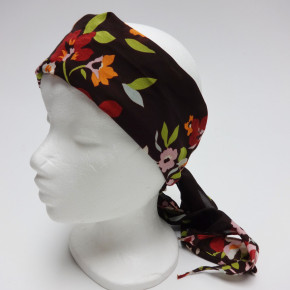 Bandana head scarves colormix with flower print