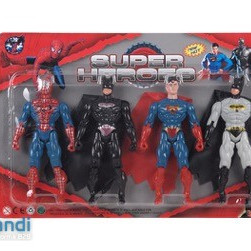 Set of four super heroes.