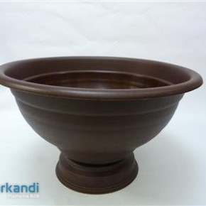 Flower bowl sole 45 cm brown