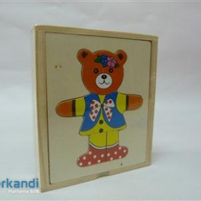Game wooden bear puzzle oe987