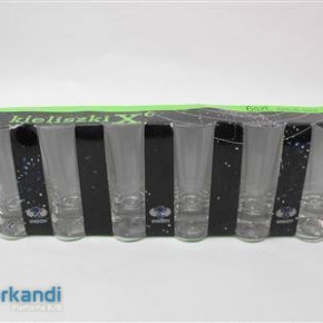 Glass short drink piece of 6 PRY