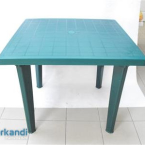 Green square table