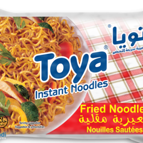Instant fried noodles Toya, high quality. 2x sauce