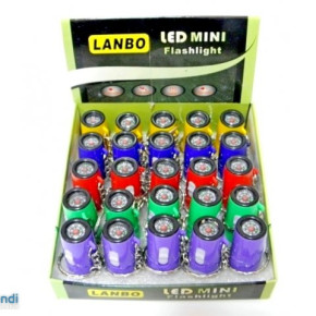 1LED keychain flashlight with zoom and compass