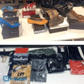Branded clothing and footwear - liquidation stock