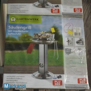 Säulengrill with adjustable air supply