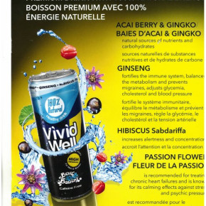 Soft drink Vividwell Bar&Berry can 0.25 L