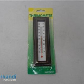Thermometer wooden brown framed