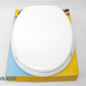 Toilet seat plastic coated white