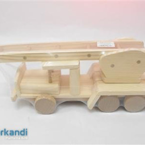 Wooden game fire engine