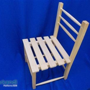 Wooden high chair small barred