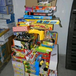 Toys, cosmetics, games clearance lines