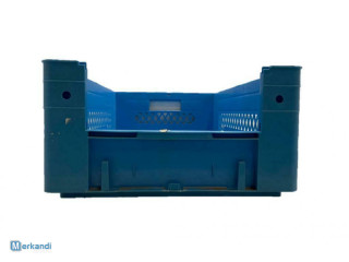 Crate Plastic blue 600 x 400 x 210 opening 1 side