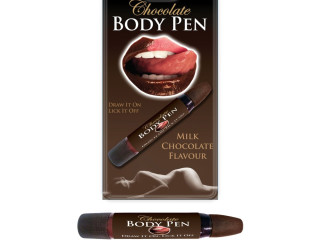 Chocolate marker for body painting