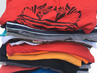 Used women's men's t-shirts second hand sorted mix package