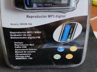 Orion mp3 player with fm radio, microphone 1GB