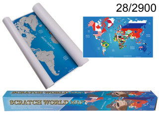 Scratch Map FLAGS ENGLISH EDITION