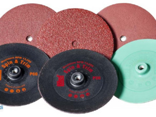 Sandpaper sanding discs from Colad and Hamach with different grits
