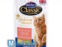 BUTCHER'S DELICIOUS DINNER CAT WITH SALMON AND DORY 100g