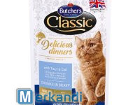 BUTCHER'S DELICIOUS DINNER CAT WITH TROUT AND COD 100g