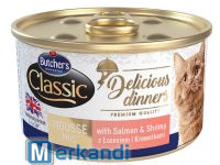 BUTCHER'S DELICIOUS DINNER CAT WITH SALMON AND ASCHRIPMS MOUSSE 85gCA