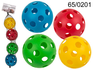 A set of 4 balls for a dog