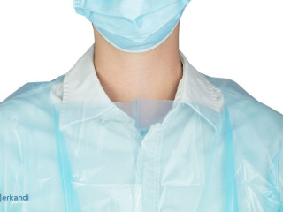 CPE protective gown DIN EN 14126, glossy