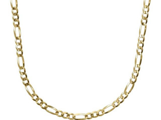 Formula Figaro Flat Necklace (Gold Plated) 5 mm