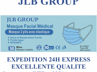 French type IIR blue surgical mask EN14683: 2019