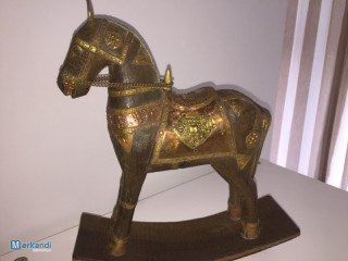 Wooden horses on seesaw shod with metal - Orient