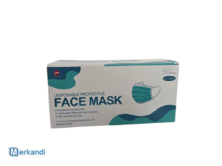 Disposable 3ply face mask, UK stock / 50 pack - non medical