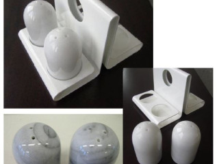 55. EGRO luxurious Salt and Pepper made of marble