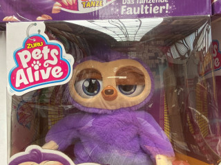 Fifi sloth, interactive plush toy, mixed pallet, A-goods